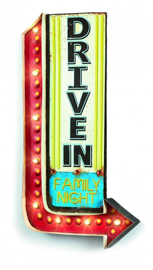 Retro Led Drive In American Diner Sign