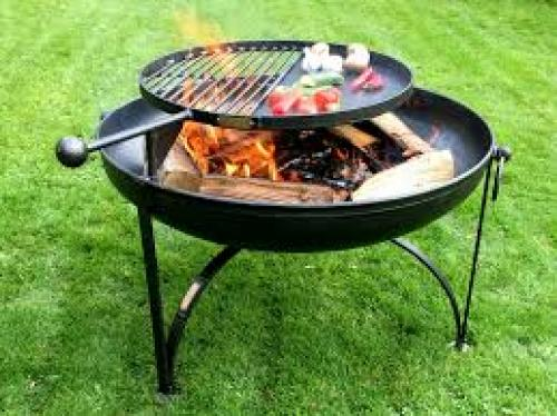 Firepits Uk Plain Jane 60cm Fire Pit With Swing Arm Bbq
