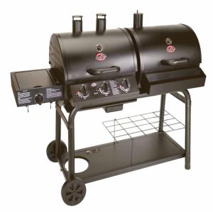 Char-Griller DUO Gas and Charcoal BBQ with Side Burner