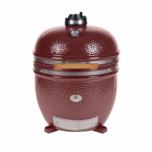 Monolith Le Chef Big Kamado Grill in Red Without Cart or Shelves