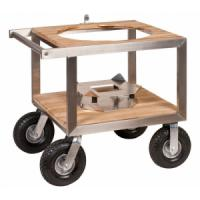 Monolith Classic Kamado Stainless and Teak Buggy Only and Optional Side Table