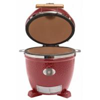 Monolith Junior Kamado Grill in Red Stand Alone